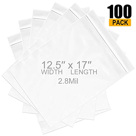 "500 Plastic Poly Clear Storage Reclosable Zipper Bags 4.7/"" x 6.7/""/_120 x 170mm"