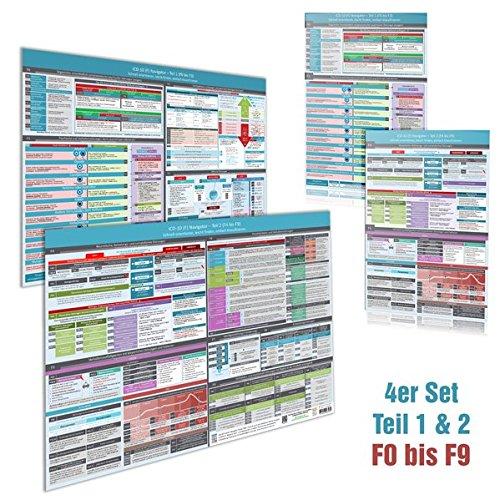 4er Set  ICD 10  F  Navigator  DINA4  + Wandposter  DINA2    Ideal Zur Prüfungsvorbereitung Für Heilpraktiker Psychotherapie  PSY    Teil 1 And 2  F0 ... Leicht Finden Einfach Klassifizieren