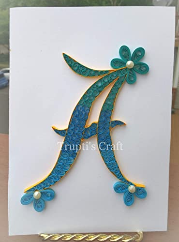 Amazon.com: Paper Quilling Monogram \'A\' Wall Frame/Wall Hanging/Home ...