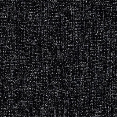 Europatex Pandora Upholstery Basketweave Black/Smoke Fabric by The Yard