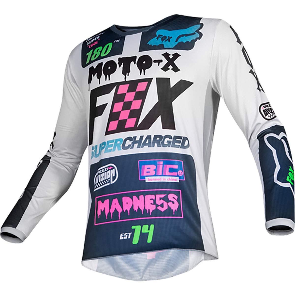 Fox Racing 2019 Youth 180 Czar Jersey-Light Grey-YL by Fox Racing