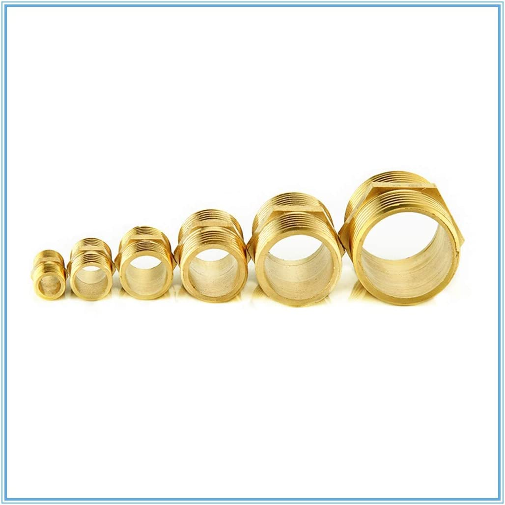 Wang shufang WSF-Adapters 1pc Brass Pipe Fitting Hex Nipple M//M 1//8 1//4 3//8 1//2 3//4 Male Thread Coupler Connector Copper Color : 01, Size : 1//8