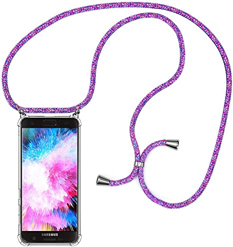 MXKOCO Carcasa de movil con Cuerda para Colgar Samsung Galaxy S7 Edge-Funda para Phone Case con Correa Colgante/PC Smartphone Necklace con Banda- con Cordon para Llevar en el Cuello -Púrpura: Amazon.es: Electrónica