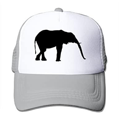 Elephant Trucker Hats Womens Gym One Size Mesh Caps Comfy Baseball Caps 9bb8160bcf3