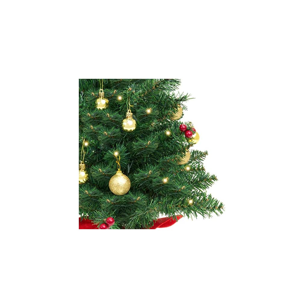 Best-Choice-Products-22in-Pre-Lit-Battery-Operated-Tabletop-Mini-Artificial-Christmas-Tree-Decor-wUL-Certifed-LED-Lights-Red-Berries-Gold-Ornaments-Green