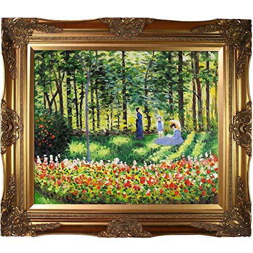 overstockArt Mon2283-Fr-6996G20X24 Monet La Famille D'Artiste with Victorian Gold Frame, Gold Finish