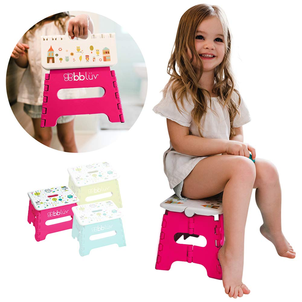 bblüv - Stëp - Foldable Step Stool - Safe, Compact and Easy to Clean (Pink) by bblüv