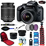 Canon EOS 3000D/Rebel T7 DSLR Camera with EF-S 18-55mm f/3.5-5.6 IS II Lens + 16 GB Cards + Accessory Bundle