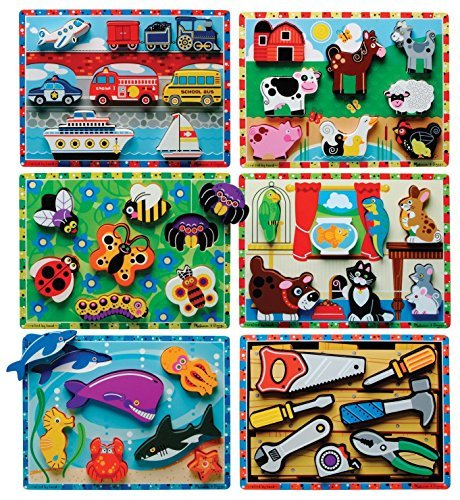 Melissa and Doug Early Childhood Chunky Puzzles, 9'' W x 12'' L