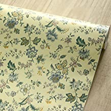 SimpleLife4U Natural Blooms Contact Paper Decorative Shelf Drawer Liner Self-Adhesive Sports Locker Decor 17.7 Inch By 9.8 Feet