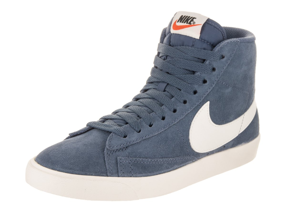 NIKE Women's Blazer Mid VNTG Suede Casual Shoe B07CP6M471 11 B(M) US|Diffused Blue/Sail-sail