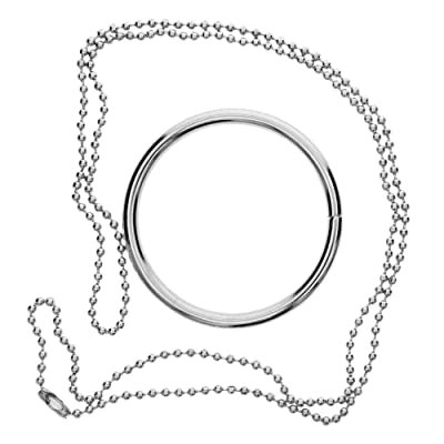 Niome Creative Metal Ring and Chain Magic Trick Props Knot Ring Show Toys 1PC: Toys & Games