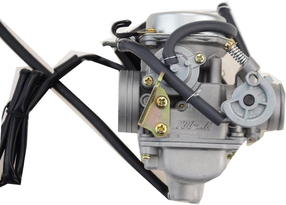 Goofit PD24J Carburateur pour GY6 150cc ATV Scooter 157QMJ Moteur Cylindre hydraulique /à frein hydraulique pour 90cc 110cc 125cc 150cc 200cc 250cc Go Kart Buggy Sunl BMS Kandi Roketa Kazuma Kinroad