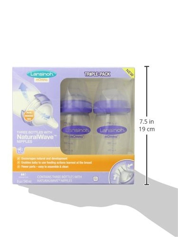 Amazon.com : Lansinoh mOmma Breastmilk Feeding Bottle with ...