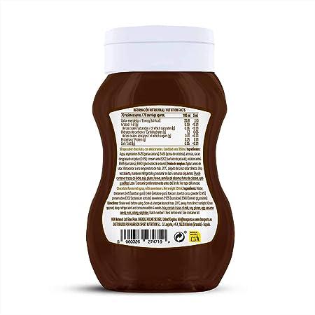 Sirope de Chocolate de HSN Foods - Sin Grasa, Sin Azúcar, Edulcorado con Estevia, Apto Vegetarianos - 350ml