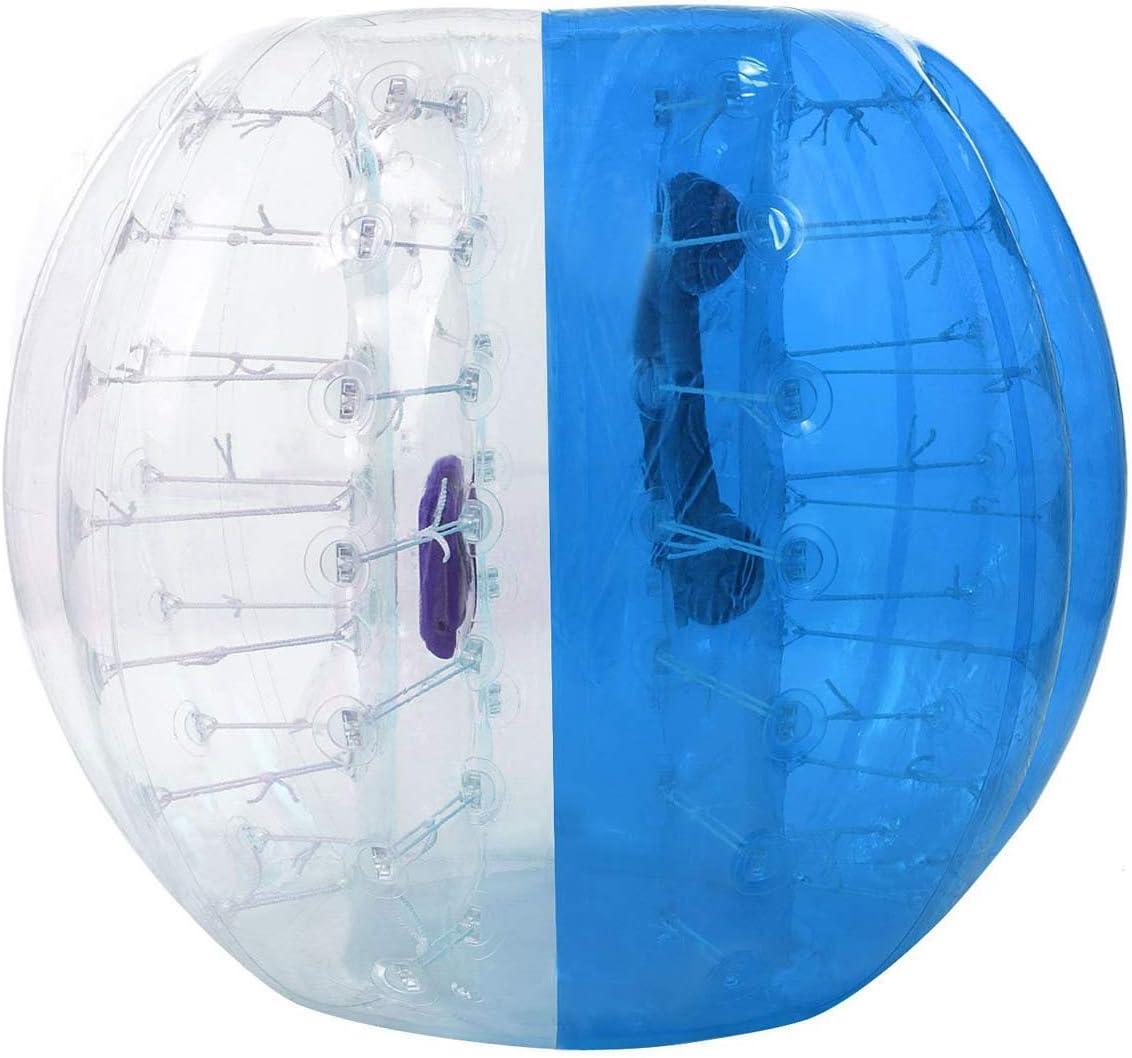 YANGMAN Parachoques Inflable de PVC Burbuja de fútbol Bola Gigante de hámster Humano Pelota fútbol al Aire Libre Zorb Ball para Adultos Adolescentes y niños,Blue,1.2M/4Ft