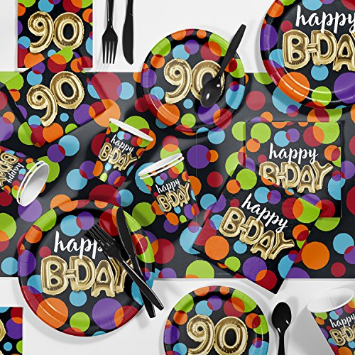 Large Balloon Birthday 90th Party Supplies Kit, Serves 24]()