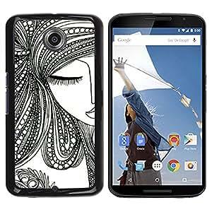 Be Good Phone Accessory // Dura Cáscara cubierta Protectora Caso Carcasa Funda de Protección para Motorola NEXUS 6 / X / Moto X Pro // close your eye