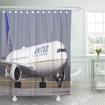 Amazon com: Semtomn Shower Curtain Plane Boeing 767 300 of United