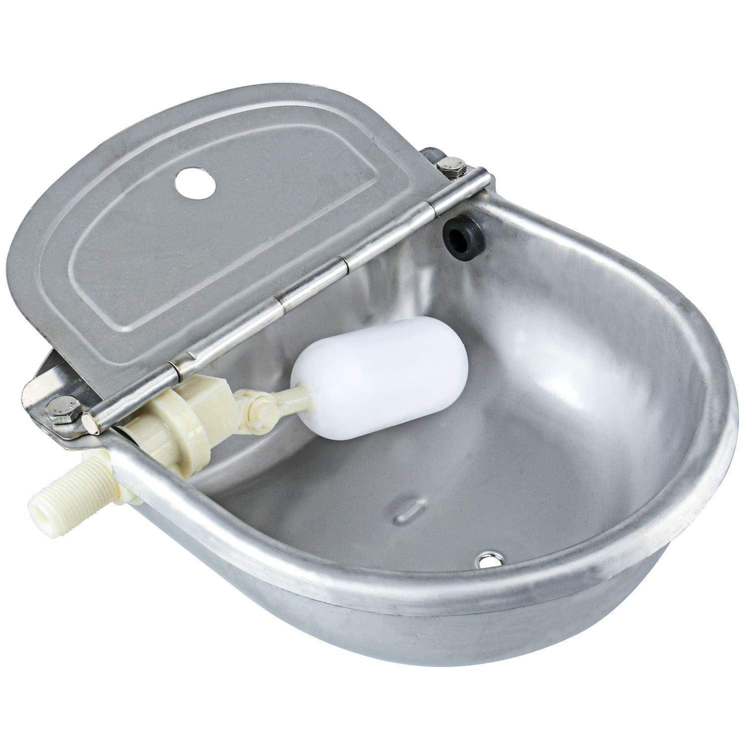 Homend Upgraded Automatic Waterer Bowl Farm Grade Stainless Stock Waterer Horse Cattle Goat Sheep Dog Water (with Drainage Hole) by Homend