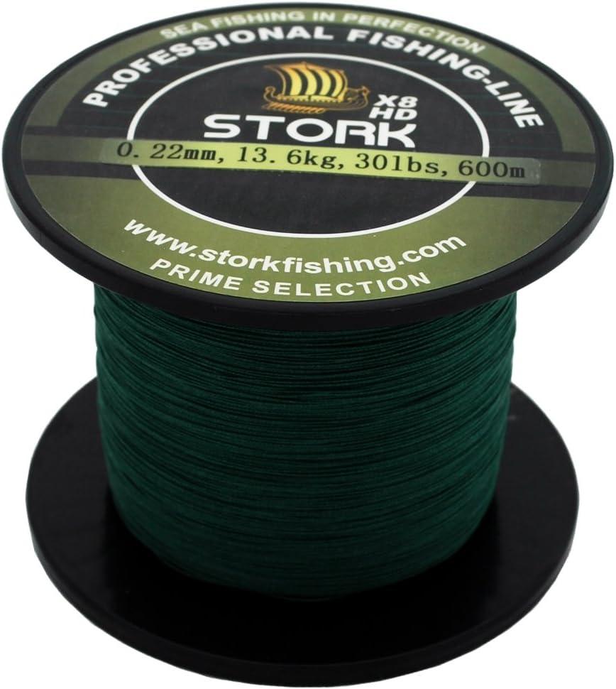 Stork HDx8 8-Stranded Premium Braided Fishing Line 600m