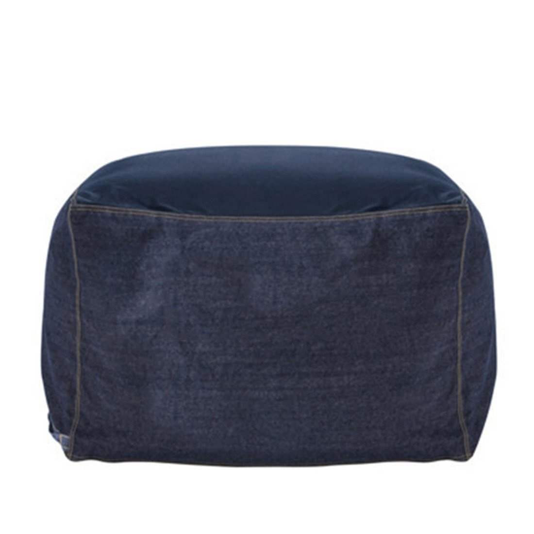 Jiyaru Bean Bag Chair Cover Sofa Cushion Beanbag Soft Cover Stuffed Animal Storage Bag Denim Blue L (Only Cover)