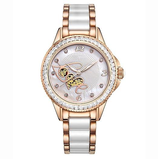 Reloj para mujer 2018 Nuevo reloj mecánico femenino auténtico Reloj de cerámica para mujer impermeable para estudiante de cuarzo: Amazon.es: Relojes