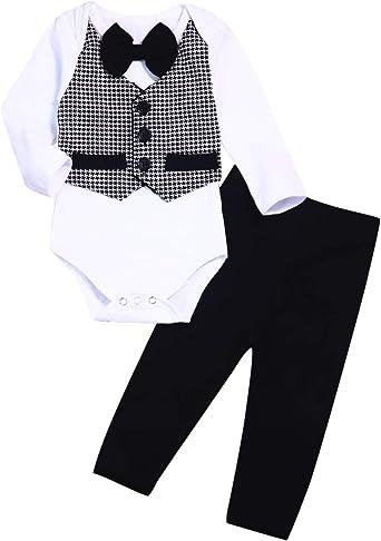 Yoveme Baby Boy Summer Clothes Gentleman Outfit Newborn Wedding Clothes Bowtie