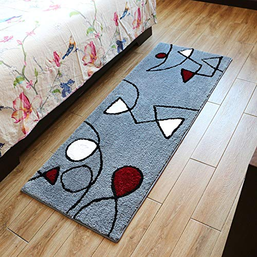 - Rectangle Floral Bedroom Rugs Kitchen Mats Cushions Bathroom Non-Slip Absorbent Carpet Coffee Table Mats
