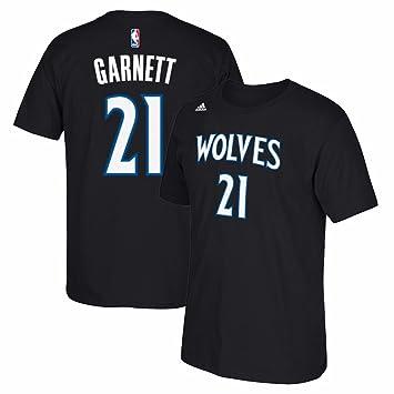 Adidas Kevin Garnett Minnesota Timberwolves NBA Hombres Negro Reproductor Nombre y número Alternate Jersey Camiseta,