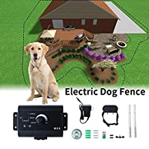 MATOP Waterproof In Ground Pet Dog Electronic Fencing System Wireless Invisible Fence Safe Training Collar (FOR 1 DOG)