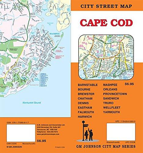 Cape Cod, Massachusetts Street Map (Cape Cod Outlets)