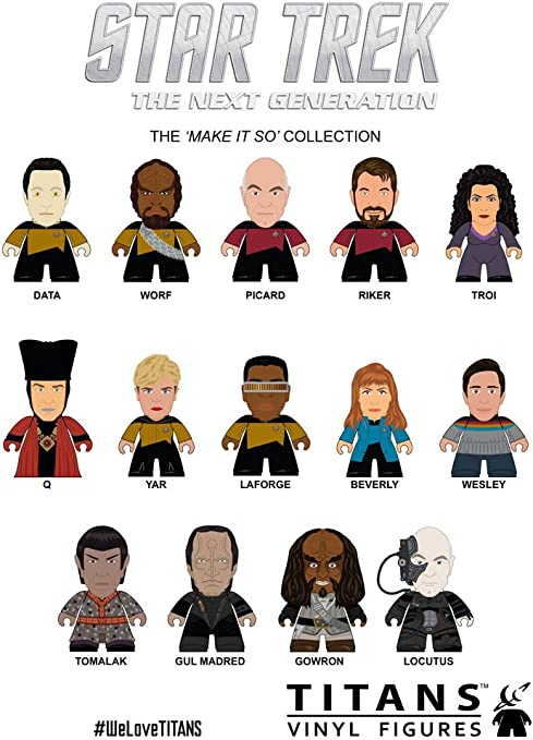 Pack 20 minifiguras personajes Star Trek: La nueva generación. The Make it so Collection. Titan Merchandise: Amazon.es: Juguetes y juegos