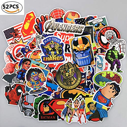 (DEBON Luggage Tags Stickers The Avengers Laptop Skin Sticker Decal Label for Truck Cars PC IPAD Bumper Skateboard Helmet Auto Bikes Ride Patches Funny Waterproof Removable Wall Decals Gift for)