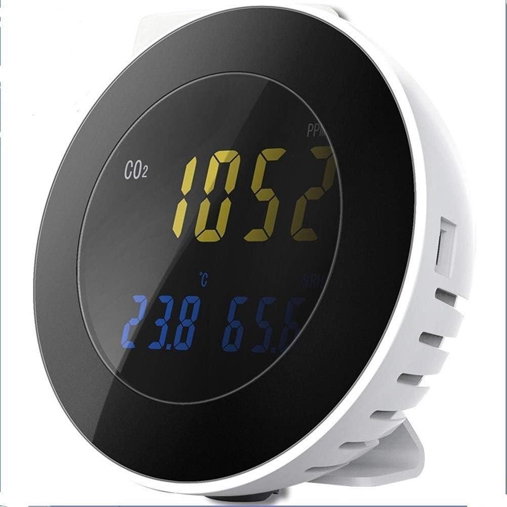 Monitor de calidad del aire Dióxido de contaminación atmosférica de CO2 Detección Digital Detector de carbono del escape del gas Detector de CO2 Analizador de monitor con sistema de alarma de aire Sen