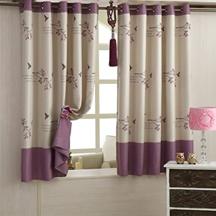 Curtain Simple Shade Printed Curtains Short Living Room Bedroom Study B 300x170cm118x67inch