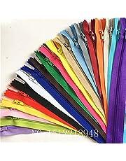 wkxfjjwzc 3# 40pcs Mezcla 50cm (20pulgadas) Bobina de nylon cremalleras sastre costura Craft Crafter 's & fgdqrs