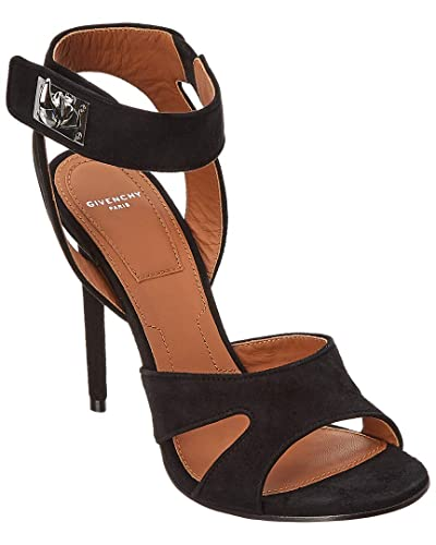 bbd20fc377487 Amazon.com: Givenchy Shark Lock Suede Sandal, 39, Black: Shoes