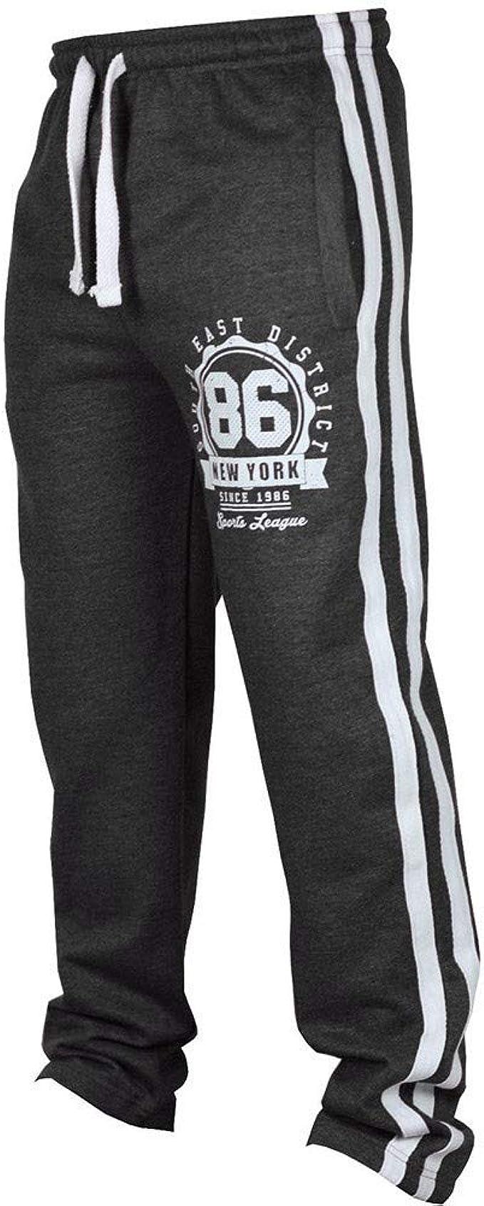 Men Drawstring Pants Dance Jogging Sportwear Sweatpants Casual Wide Leg Trousers