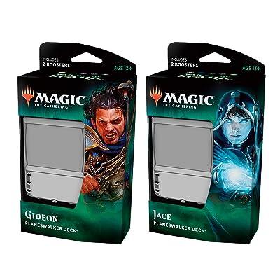 Magic The Gathering C57800000 War of The Spark-Planeswalker (baraja enviada al Azar ya Sea Gideon o Jace): Juguetes y juegos