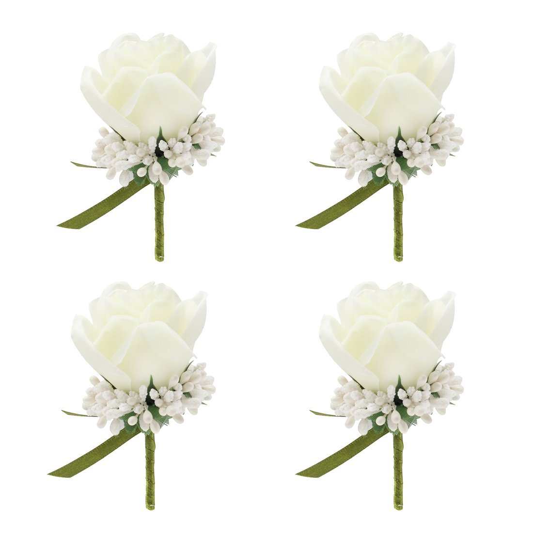JaosWish-4PCS-Flower-Men-Boutonniere-Handmade-Silk-Men-Corsage-for-Wedding-Party