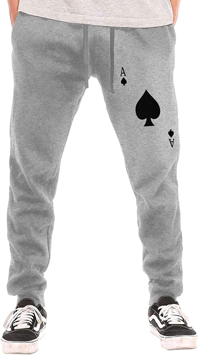 Q81CHO@ Mens Athletic Sweatpants 100/% Cotton Ace of Spades Running Pants for Men
