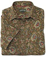 Orvis Men's Island Block Print Short-sleeved Shirt
