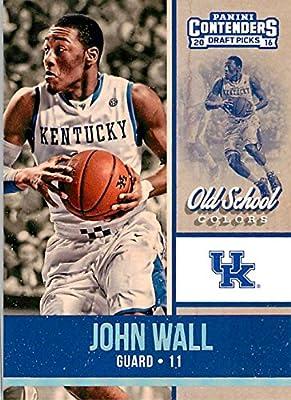 2016-17 Panini Contenders Draft Picks Old School Colors #10 John Wall Kentucky Wildcats Collegiate Basketball Card