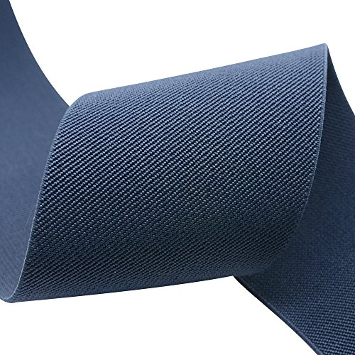 iCraft 1.5-Inch Wide Colored Double-side Twill Woven Elastic,2 Yards,Navy Blue 32080