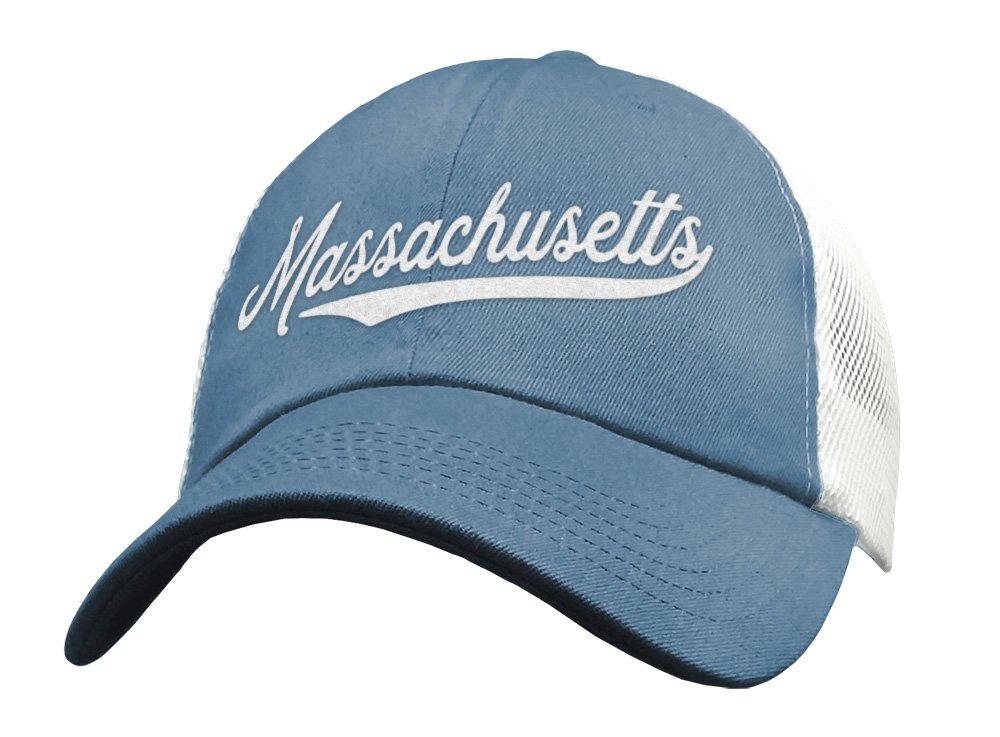 6bf2718ccc656 Amazon.com  State of Massachusetts Trucker Hat Baseball Cap - Snapback Mesh  Low Profile Unstructured Sports - MA MASS USA  Handmade