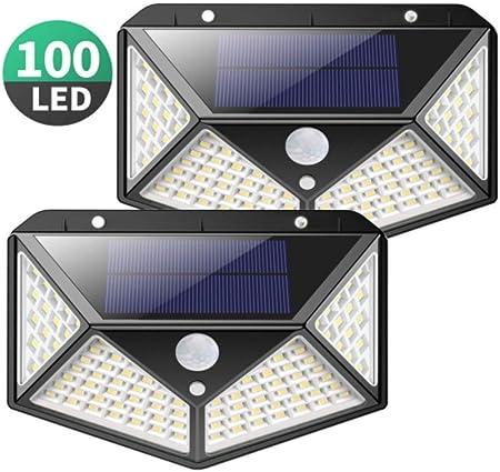 Sarplle Solar Garden 2 Piezas 100 LED Luces solares para jardín Decoración navideña Lámpara de Pared Lámparas solares Patios, Jardines, iluminación de césped: Amazon.es: Hogar