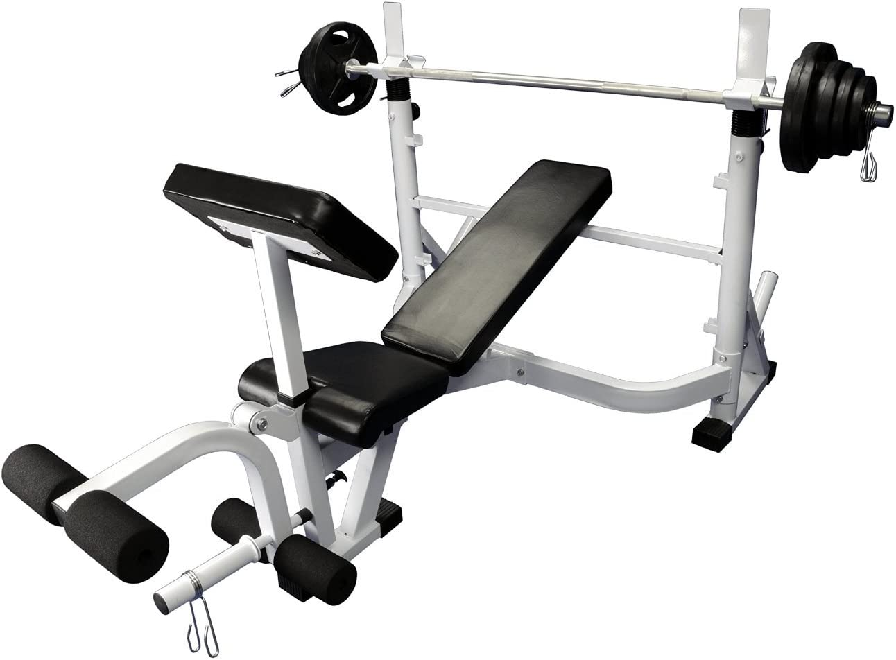 Olympic 300 lb weight set with Power Olympic Bench