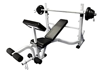 Amazoncom Olympic 300 lb weight set with Power Olympic Bench