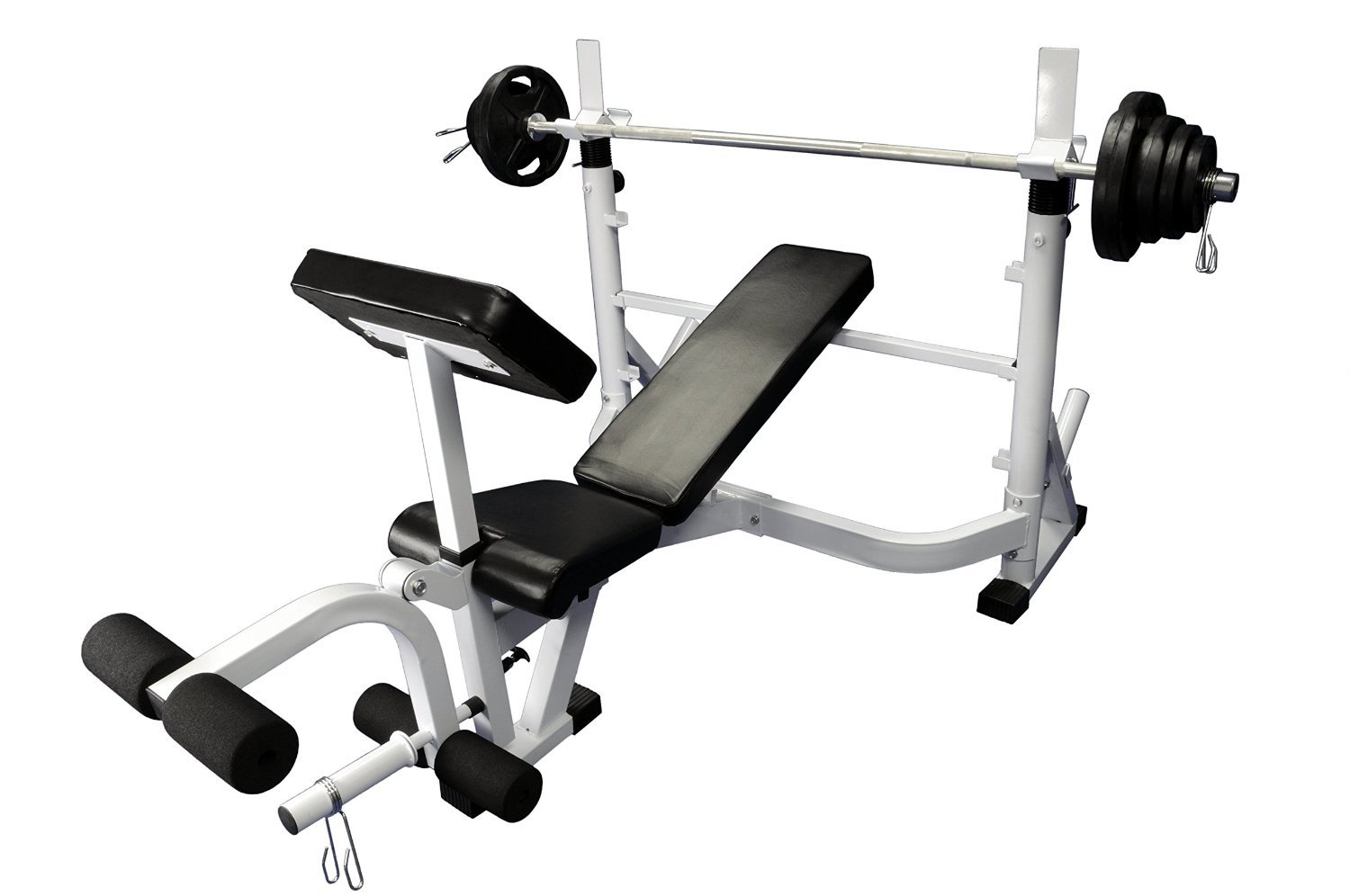 Olympic 300 lb weight set with Power Olympic Bench by Ader Sporting Goods